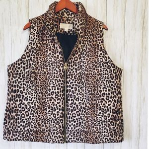 NWT Micheal Kors plus size, puffer vest, leapord